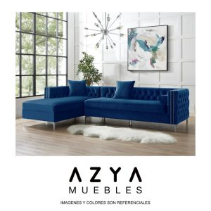 Sofá seccional Isabella Azul