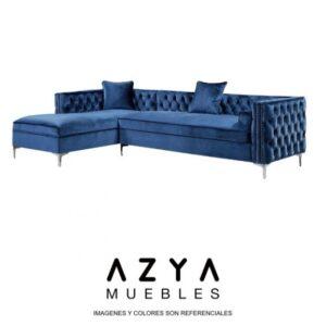 Azya Muebles - Sofá seccional Isabella Azul