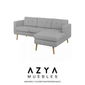 Seccional Berna color gris, disponible en AZYA MUEBLES