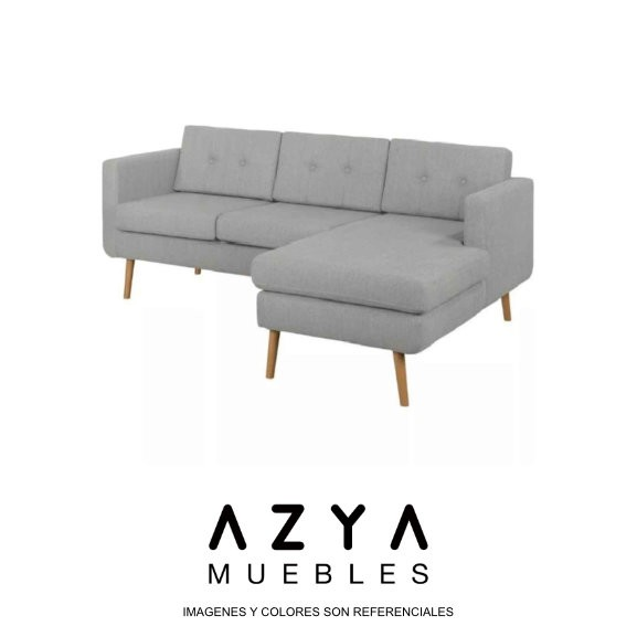Seccional Berna color gris, disponible en AZYA MUEBLES