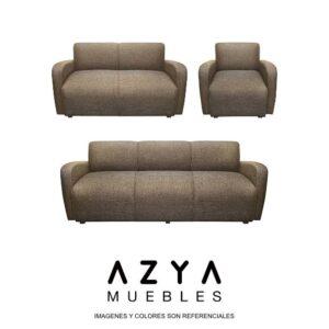 Juego de sala Oslo color marrón, disponible en AZYA MUEBLES