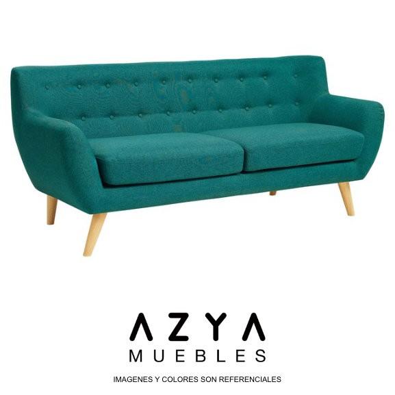Sofá Vintage de 3 cuerpos, disponible en AZYA Muebles
