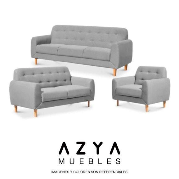 Juego de sala Breusellas color gris. disponible en AZYA MUEBLES