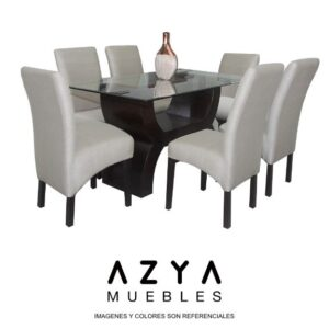 Juego de comedor Patricia, disponible en AZYA Mueble